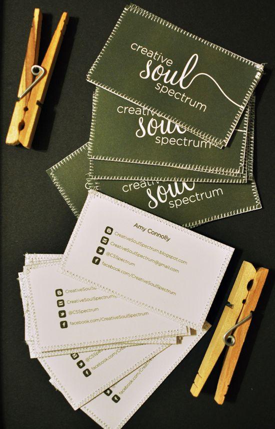 DIY sewn business card