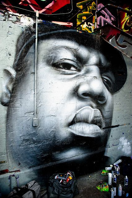 The Notorious B.I.G. - Artist : Owen Dippie, Long Island City, Queens  #streetart