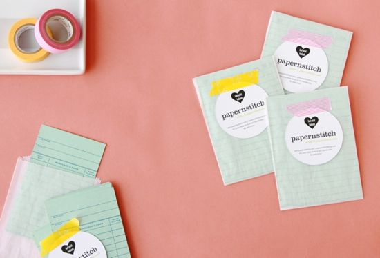 colorful diy business cards