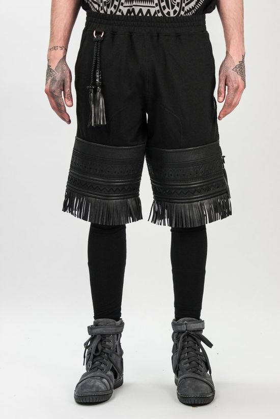 KTZ Legging Tattoo Shorts in Black