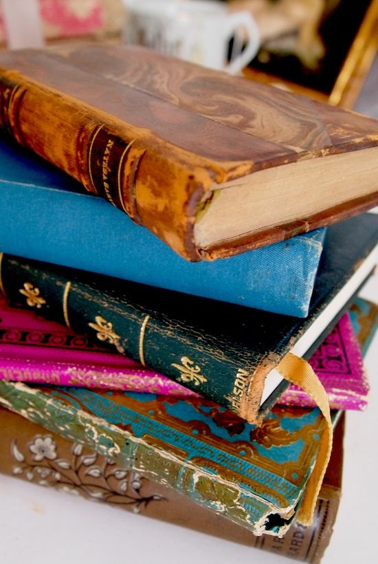 i love the look of old books, i would take the cover of these and put them on the book i love!