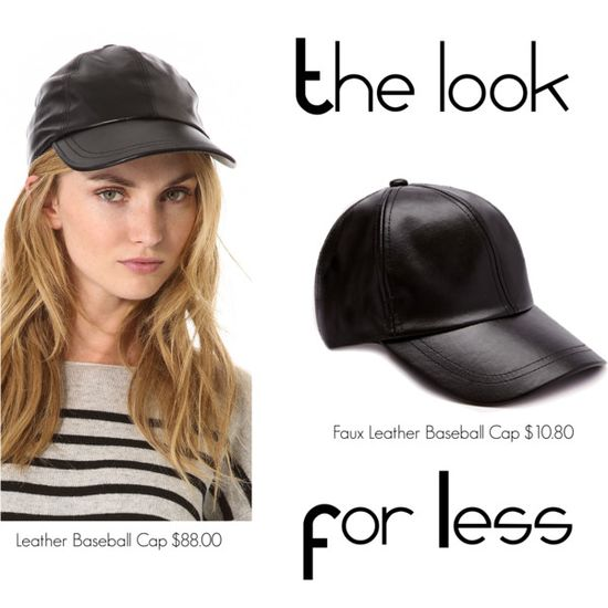 The Look for Less: Leather Baseball Cap
