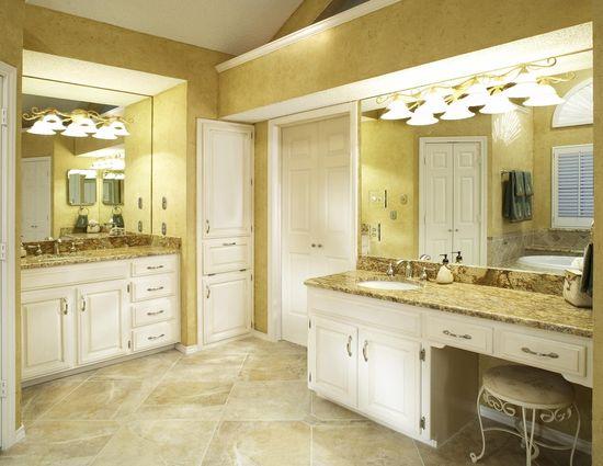 bathroom #interior #design  #golden #colors   #big #tiles