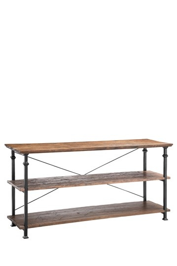 Silk Road Trading Company     Eiffel Open Shelf Console