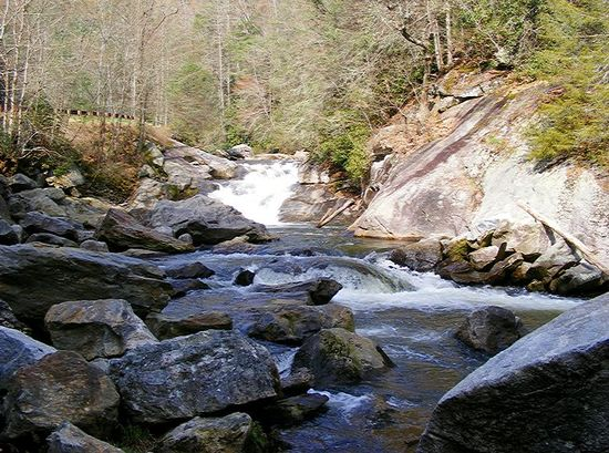 Cullasaja River on the Mountain Waters Scenic Byway in NC