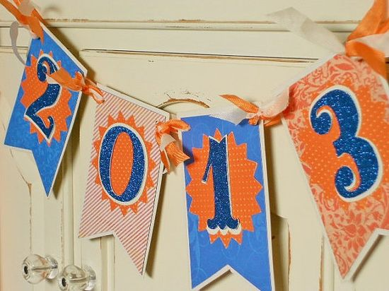 Custom Color Graduation Banner 2013 Personalize it to your School Colors- Party Decoration