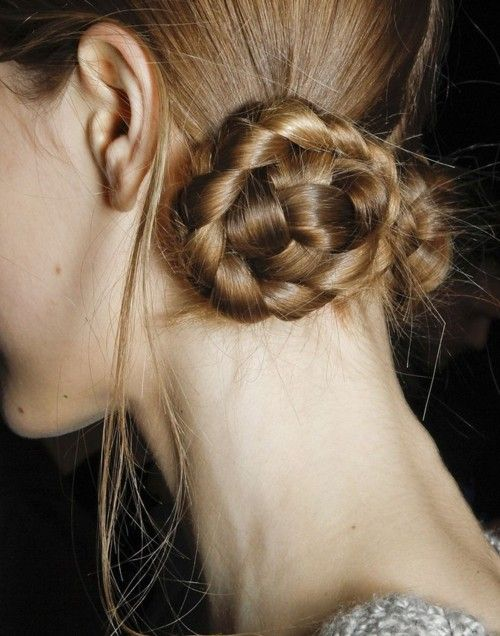 braided side buns