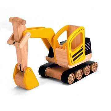 Classic Wooden Digger children's toy