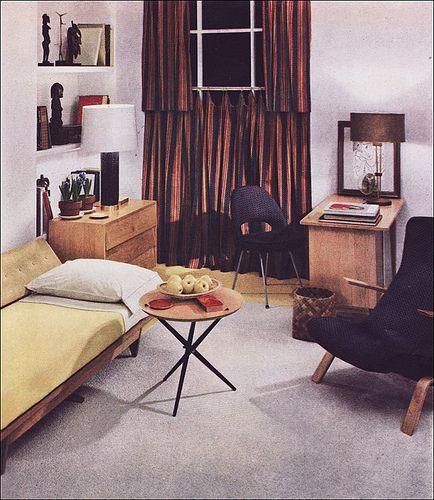 1950 Modern Guest Room by American Vintage Home, via Flickr