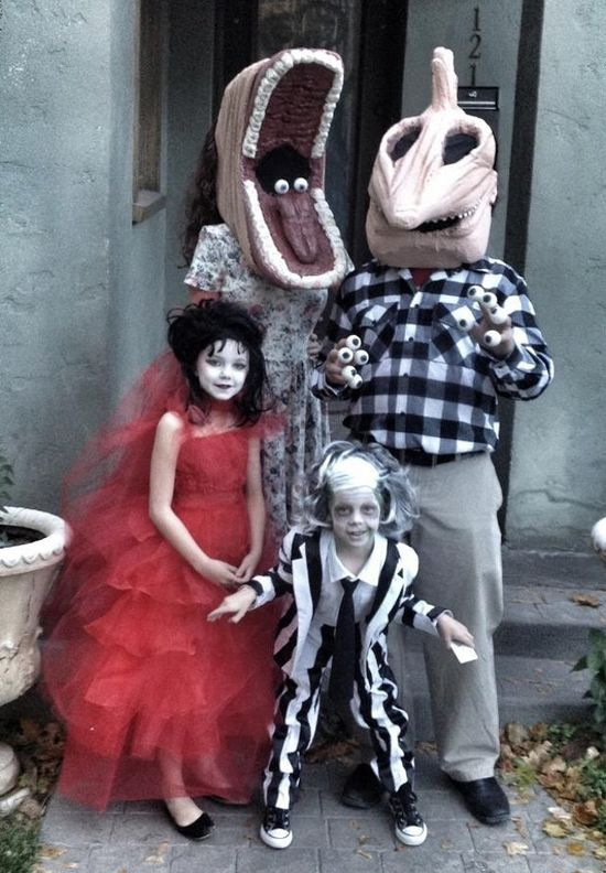 Beetle Juice Family Halloween Costume Idea
