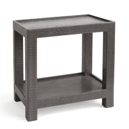 Gray Crocodile Side Table, sharing luxury designer home decor inspirations and ideas for beautiful     living rooms, dinning rooms, bedrooms & bathrooms inc furniture, chandeliers, table lamps, mirrors, art,     vases, trays, pillows,  accessories & gift courtesy of InStyle Decor Beverly Hills enjoy & happy pinning