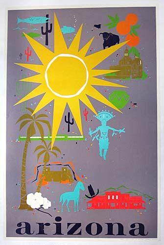 Vintage Arizona tourism poster
