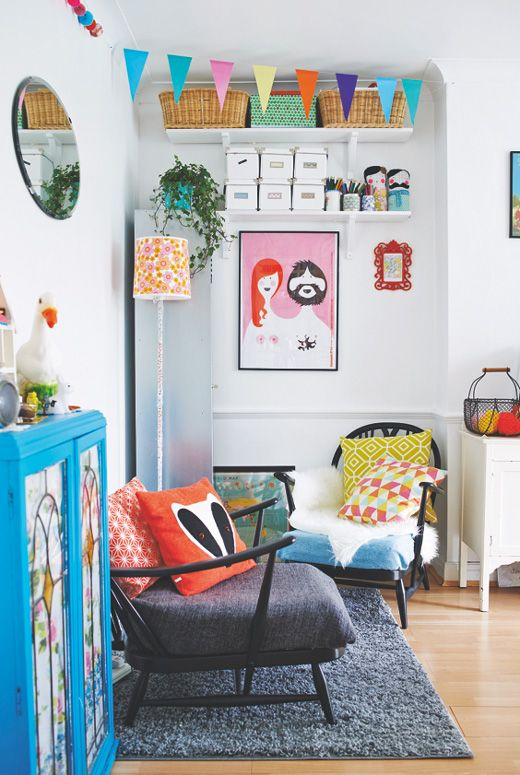 Colorful and cheerful living room