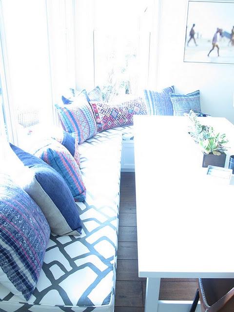 kitchen nook pillows    # amber interiors