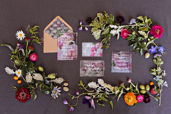 botanical invitation suite // photo by Sean & Amanda Photography // design by Julia's Poppies Design // View more: ruffledblog.com/...
