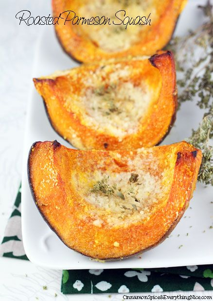 Roasted Parmesan Squash