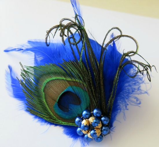 Peacock Bridal Wedding Bridesmaid Feather Hair by parfaitplumes, $28.00