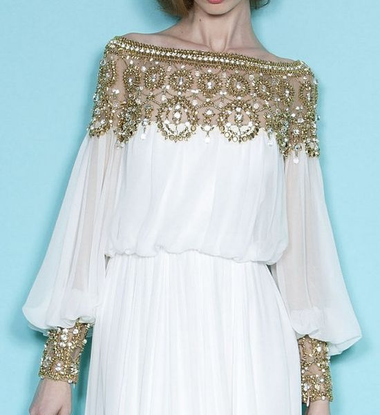 Gorgeous Silk Vintage Evening Gown and Wedding Dress by Whitesrose, $389.00