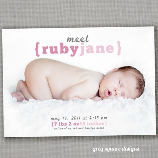 great birth announcements
