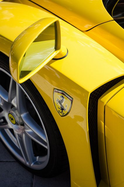 ? Ferrari Yellow car Glimpse of an Enzo by Ahmad Hashim #yellow #car #wheels