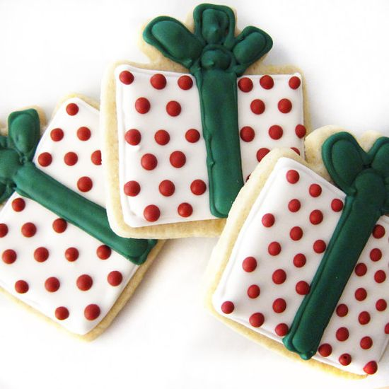Christmas Present Cookies - Holiday Cookies - Christmas Cookies