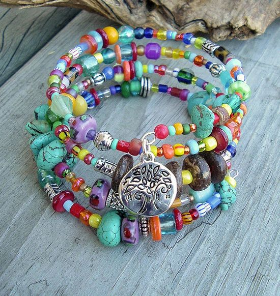 Layered Turquoise Bracelet Southwest Bracelet by BohoStyleMe