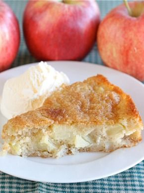 Easy Apple Cake Recipe on twopeasandtheirpo... A great dessert for fall!