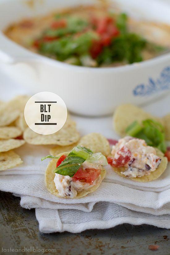 BLT dip via tasteandtellblog