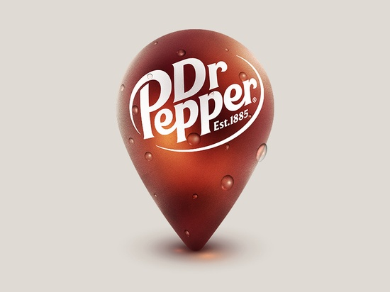 Dr Pepper Location Pin - by Julius Lattke