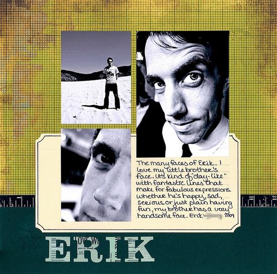 Erik Scrapbook Layout