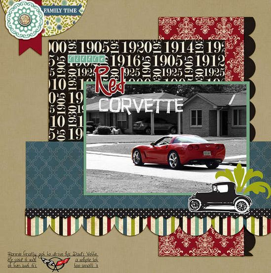 Cars scrapbook layout