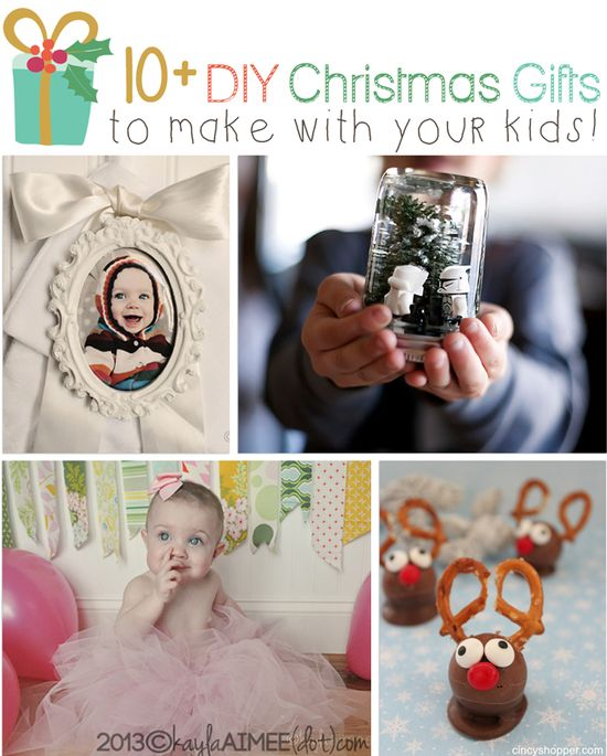 A perfect activity for Thanksgiving weekend AND your holiday gifts will be totally done ~ BAM! A DIY Holiday: 10  Easy DIY Gifts To Make With Kids #DIY #Gifts