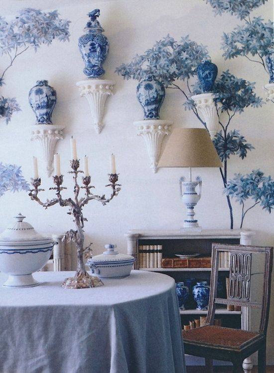 blue and white.