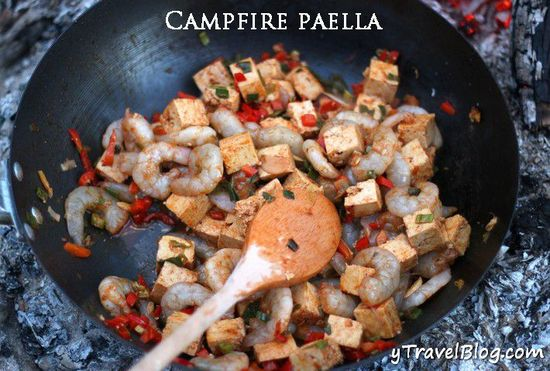 Campfire cooking recipes and tips for cooking over an open fire-campfire paella