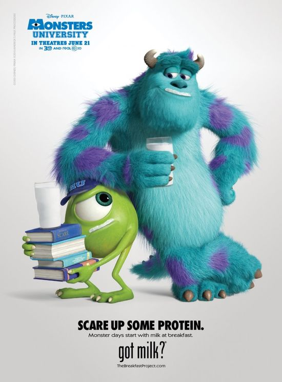 """Mike and Sulley Milk   New """"Got Milk"""" Ad!"""