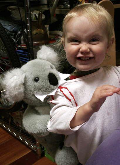 The koala bit me!
