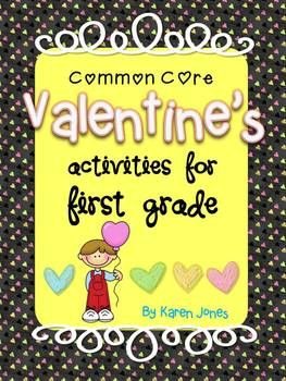 Valentine's activities for 1st grade w/ELA & Math CCSS!  Lots of centers and activities! $