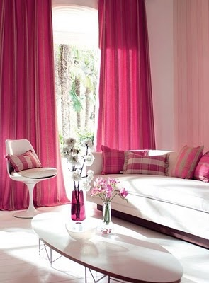 A pink living room :)