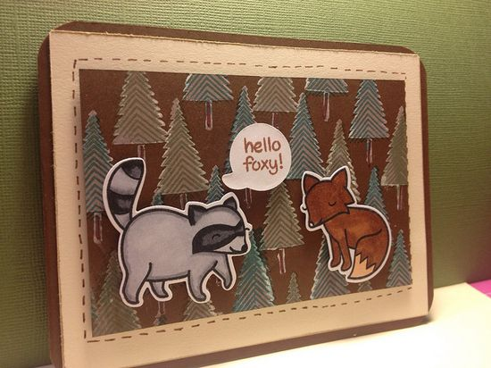 Lawn Fawn - Critters in the Forest, Let it Snow _ www.cardcrazycraf...