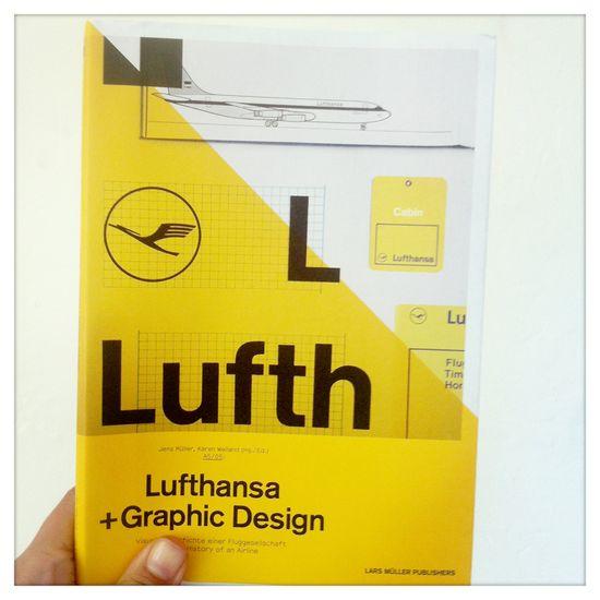 Lars Muller Lufthansa +Graphic Design book via Vanessa Correa