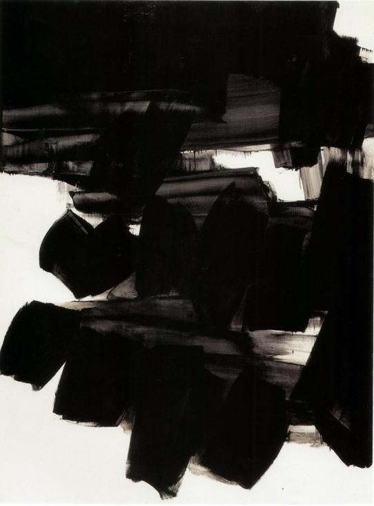 bold black abstract painting