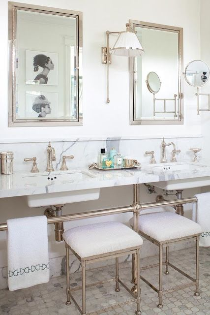Ann Hepfer bathroom Marble countertops