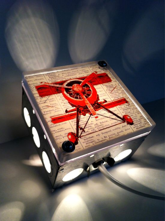 Come Fly Away With Me Red BiPlane  Repurposed by TheRekindledPage, $38.00