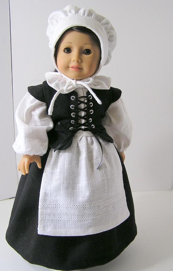 Pilgrim Outfit for American Girl Doll. $37.00, via Etsy.