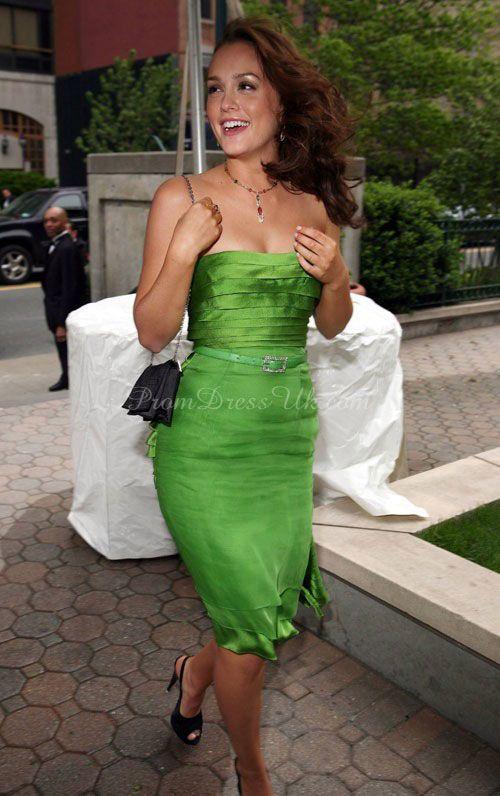 Natural Waist Sleeveless Sash Knee Length Column Strapless Celebrity Dress