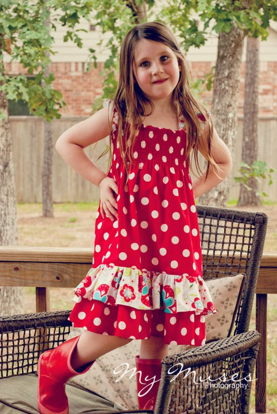 Girls Maxi Dress PDF 3 strap & hem options and by HaileyBugsCloset