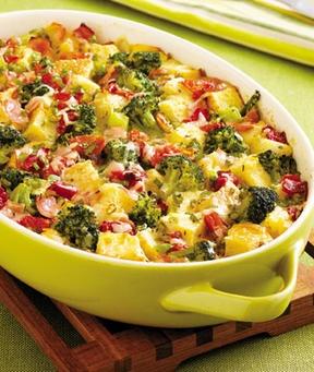 Savory Broccoli Bread Pudding Recipe
