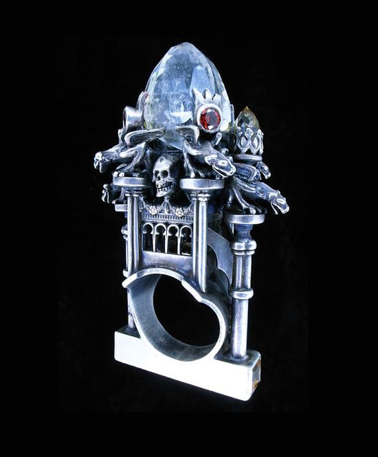 Really Really Big Cathedral Ring. Metal Couture by Willliam Llewellyn Griffiths