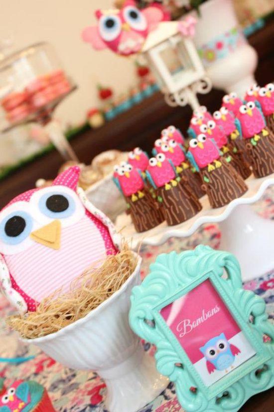 Woodland Owl garden party via Kara's Party Ideas karaspartyideas.com #woodland #owl #birthday #party #ideas