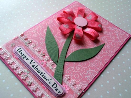 Flower of Love Handmade Valentine Card